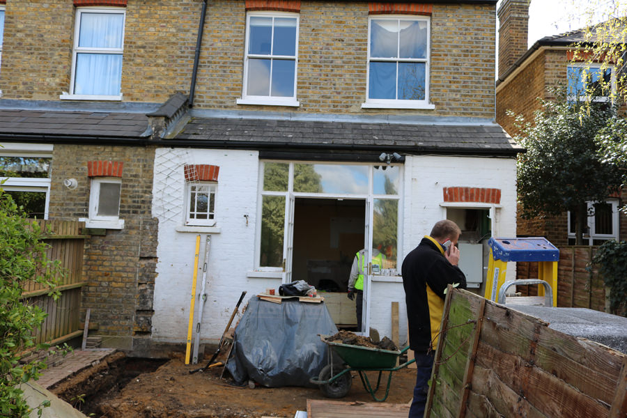 0558 back of the house during construction works in Surbiton