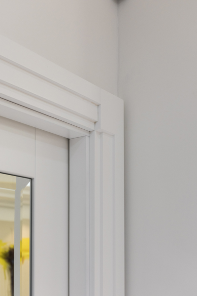 0587 art deco architrave white high gloss vorbild architecture