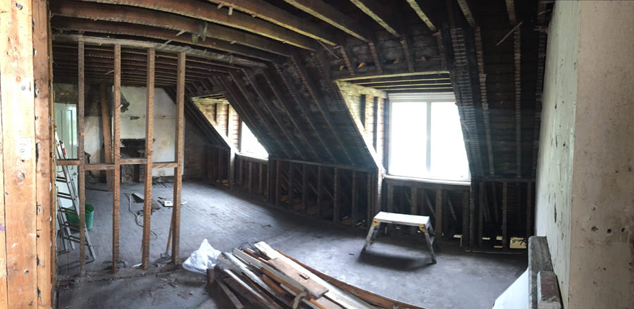 0776 loft conversion in west hampstead nw6 during building works