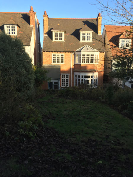 0776 detached house in west london before new rear extension