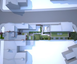 0775 Terraced house conversion and new built apartments in West Hampstead