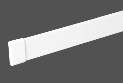 Beschwerungsprofile weiss für unten für Flächenvorhänge mit Lasercut