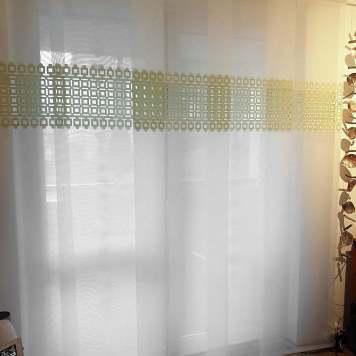 Flächenvorhang Lasercut 60 cm breit Kundenfoto Variante Plauen