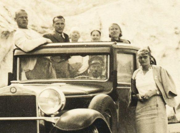 Fiat_525_um 1930_Gotthardpass_Passagiere
