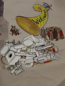"""Bedolven onder luxe, fragment uit """"De fabel van de brave muizen"""" van Eppo Doeve voor NCRV's Hier en nu, 30-4-1977. Collectie: Beeld en Geluid."""