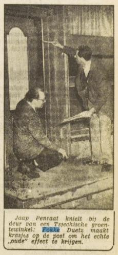 Penraat en Duetz in het Vrije Volk van 13-3-1954. Collectie Pien Duetz
