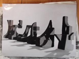 Foto van maquette voor onbekend programma Collectie Jan van der Does