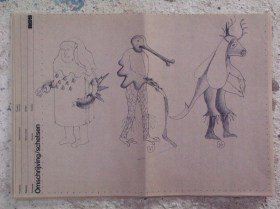 Het grote gebeuren (VPRO, 31-12-1975), regie Jaap Drupsteen, decor Frank Rosen. Collectie Frank Rosen