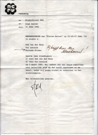Dubbel Een: Kleine muizen (NCRV, 1-3-1981), regie Bram van Erkel, decor Henk Tilder. Collectie Henk Tilder