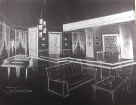 Decorontwerp van Cor Hermeler voor een show van Jos Brink, 2-11-1978. Objectencollectie Beeld en Geluid, nummer 10413