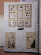 Schitterende karikaturen van Amsterdamse gemeenteraadsleden, onder Niceto Alcalá-Zamora en Francisco Mario (?)