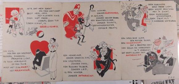 U mist iets... Een brochure op rijm met illustratiies van Weynand voor Anthraciet kachels