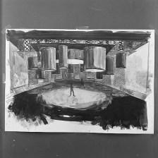Decorontwerp van Els Salomons voor een onbekend programma (VARA, 26-8-1964). Fotocollectie Beeld en Geluid, fotonummer FTA001027070_001
