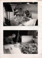 Achter de schermen bij spel Mid Lotto Live (VARA, 1985). Collectie Martien van den Dijssel