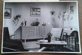 Modern interieur voo reclamefilm. Collectie erven Van Baarle