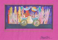 Decorontwerp 1-2-3 show: Copacabana (KRO, 27-1-1986), decor Roland de Groot. Collectie Roland de Groot