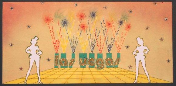 Ontwerp achterdoe kDe Willem Ruis Lotto show (VARA 1981-1984), decor: Hub Berkers. Collectie Hub Berkers / NIBG