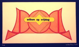 Ontwerp achterdoek De Willem Ruis Lotto show (VARA 1981-1984), decor: Hub Berkers. Collectie Hub Berkers / NIBG