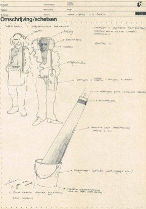 De witte raaf: Een ander verhaal (VARA, 13-3-1983), regie Jop Pannekoek, decorontwerp Misjel Vermeiren. Collectie Beeld en Geluid