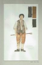 Kostuumontwerp voor Scavezzo uit De Waaier (Haagse Comedie, 1977). Ontwerp Hans Christiaan. Bron: Marjolein Sligte
