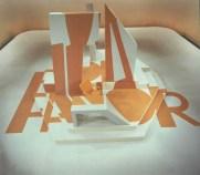 Decor en logo Por Favor (TELEAC, 1983), ontwerp Roland de Groot. Collectie Roland de Groot