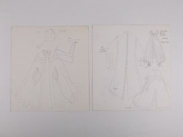 kostuumontwerp Sinterklaas, titel en uitzenddatum onbekend (ca 1970), ontwerp Wim Bijmoer, collectie Beeld en Geluid