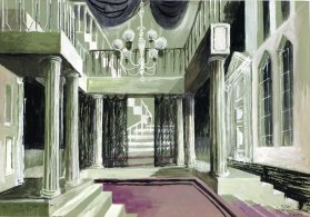 Rouw past Electra(KRO, 1980), decorontwerp Wim Bijmoer, collectie Beeld en Geluid
