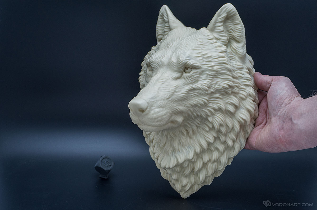Wolf Head Animal Faux Taxidermy Wall Mounted Sculpture