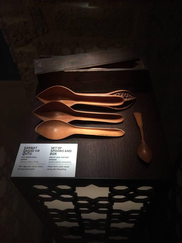 Ложки в музее Ширваншахов