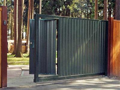 Раздвижные ворота для дачи - фото, цены на изготовление ...