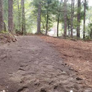 Top soil cover, final bed rake