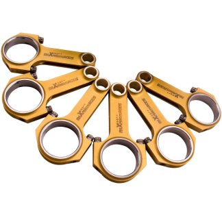 """Titanizing Connecting Rod Rods For Porsche 911 2.0L 2.2L 6cyl 130mm Conrod Genuine 3/8"""" ARP 2000 bolts 6PCS"""