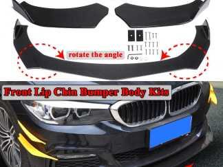 3pcs Carbon Fiber Look Universal Car Front Bumper Lip Bumper Spoiler Lip Body Kits For BMW F10 F30 F32 F36 F80 M3 F82 M4 G30