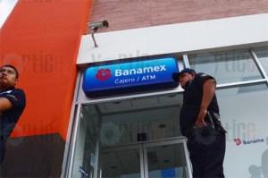 Asalto a mano armada en Banamex de Tuxtla