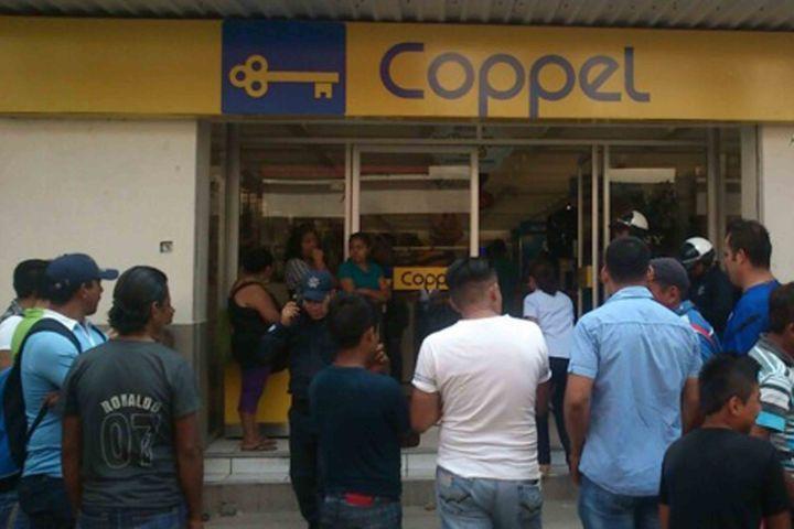 Ahora asaltan Coppel de la 9a Sur Oriente