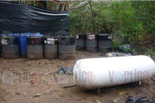 Aseguran narcolaboratorio  en Tonalá