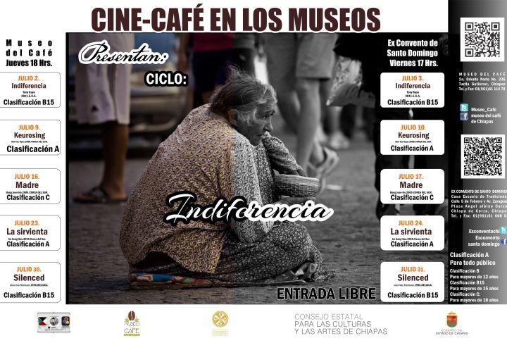 """La película """"Indiferencia"""" en Cine Café en los Museos"""