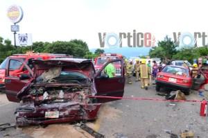 Fuerte encontronazo deja un muerto y 5 heridos en Chiapa de Corzo
