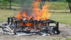 Incinera PGR casi 300 kilos de droga en Chiapas