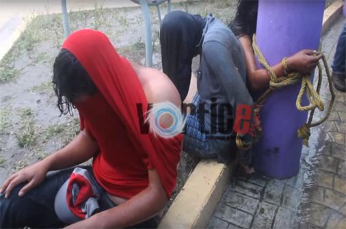 Casi linchan a presuntos ladrones en Comitán