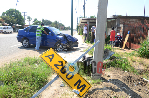 Dos heridos en accidente de tránsito en La Angostura