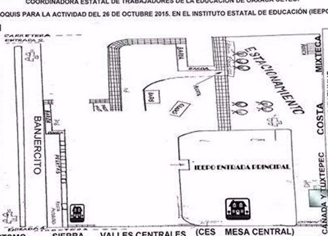 Sección 22, egresados y alumnos de escuelas normales alistan cerco en el IEEPO