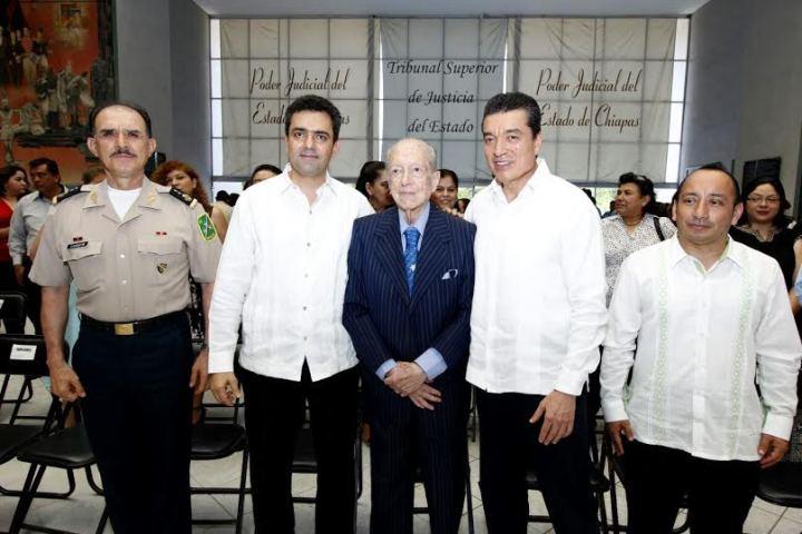 Rinde Poder Judicial homenaje a ministro en retiro  Arturo Serrano Robles