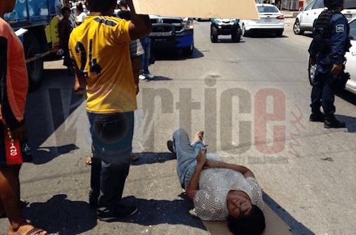 Policía de Fuerza Ciudadana atropella a peatón