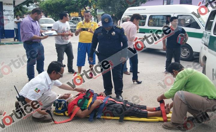 Colectivazo deja seis heridos, entre ellos un bebé