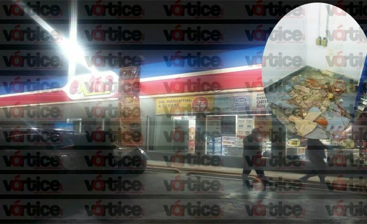 Sustraen cajero HSBC de tienda Extra; empleados dan versiones distintas