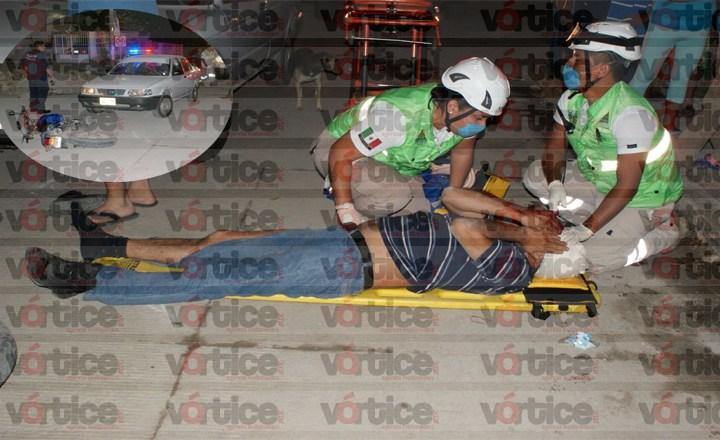 Motociclista se estrella contra automóvil en la Diana Laura