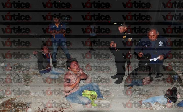Intentan lapidar a presuntos ladrones en Las Granjas; la Policía evitó el linchamiento