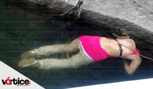 Localizan cadáver de una mujer en el río Grijalva; estaba amarrado de las piernas