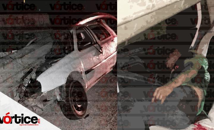 Muere automovilista tras impactarse contra la guarnición en Berriozábal